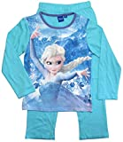 Frozen - Die Eiskönigin Mädchen Schlafanzug ELSA Pyjama (Blau, 104-110)