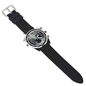 HD 1080P Watch Camera Security Cam DVR + 16GB Memory, Built in Li-battery and Microphone