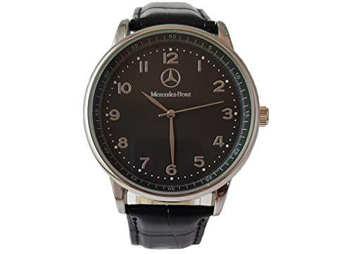 Mercedes Benz - Reloj deportivo redondo de cuarzo, pulsera negra, bate