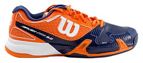 Wilson Rush Pro 2.0 Clem, Baskets Basses Homme Orange