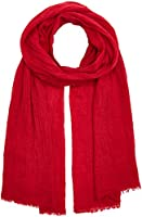 TOM TAILOR Damen Schal Casual Solid Scarf Rot (Scooter Red 4543), One Size
