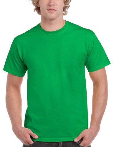 GILDAN Herren T-Shirt Gildan Adult Ultra Cotton, Einfarbig, Gr. XX-Large, Grün (Irish Green) (T-shirt Irish)