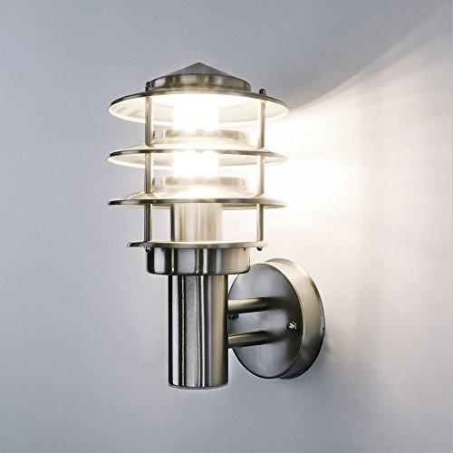 Aussenleuchte 249A Wandleuchte Aussenwandlampe Wandlampe Aussenwandleuchte Edelstahl E27 Fassung