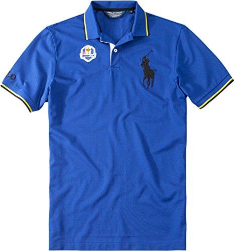 Ralph Lauren Golf Herren Polo-Shirt Baumwolle & Mix T-Shirt Unifarben, Größe: S, Farbe: Blau - Ralph Lauren Herren-oberteile