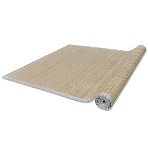 Alfombra de bambú natural cuadrada, 120 x 180 cm