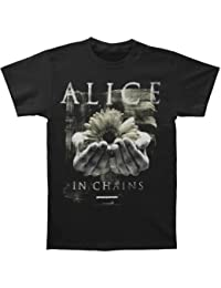 Alice en cadenas conexión en manos del hombre T-Shirt negro