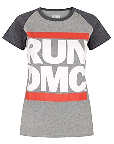Run DMC Logo Women's Raglan T-Shirt (S)