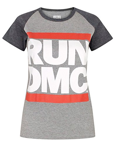 Run DMC Logo Women's Raglan T-Shirt (L) (Raglan Womens Fan)