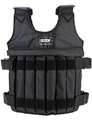 Lixada Max 20 kg de chargement Poids ajustable Weighted Vest Blouson Gilet d'exercice boxe entraînement Weightloading sable Vêtements Invisible(vide)