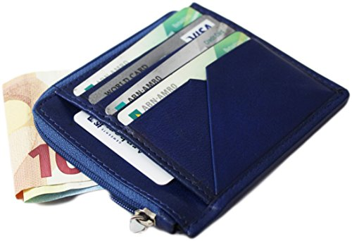 Compatto Slim Piccolo Portafoglio in pelle carte di credito 'Smart Sleeve. Compatto facile e spazio (Portafoglio Compatto)