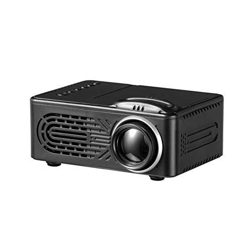 Royala Tragbarer Filmprojektor Mini Home Games Feiern Video Theater Kino 7000 Lumen Full HD 3D 1080P Multimedia AV USB-Unterstützung Kompatibel, Schwarz