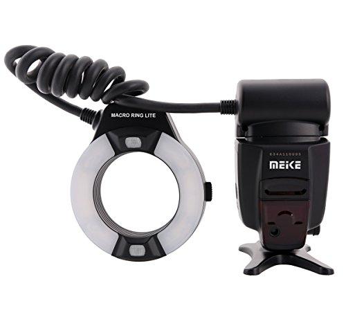 Khalia-Foto Meike MK-14EXT Makro i-TTL Ringblitz für Nikon mit LED Hilfslicht