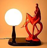 Lampe De Chevet De Chambre Simple Mariage Moderne Célébration Personnalité De Danse Créative Mode Lampe De Table De Jardin