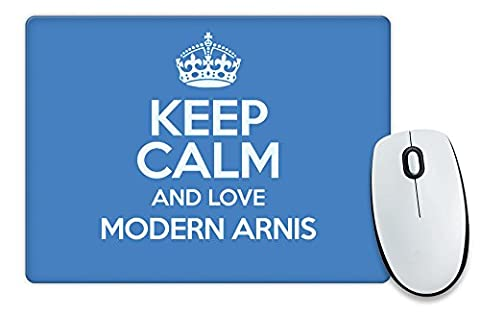 BLUE Keep Calm and Love Modern Arnis Mouse Mat COLOUR 1289
