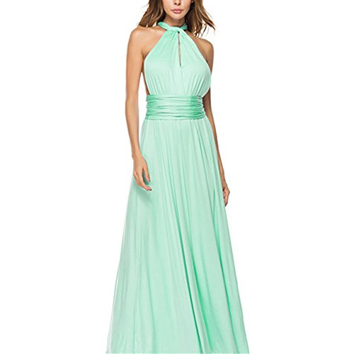 Damen Langes Ab-Schulter Tuell Prinzessin Kleid Abendkleid Ballkleid Brautjungfer Kleid Party Kleid