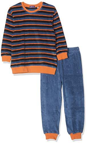 Living Crafts Frottee-Schlafanzug 98/104, Blue Shadow/Papaya -