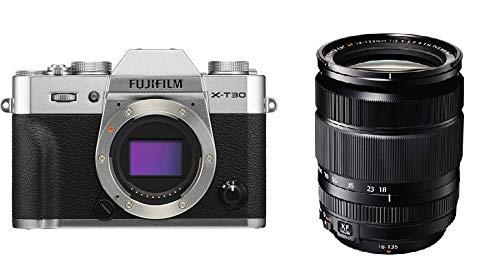 Fujifilm X-T30 Mirrorless Digital Camera Kit with XF 18-135mm f/3.5-5.6 R LM OIS WR Lens (Silver)
