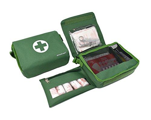41O2fkuiCuL - Botiquín BANDOLERA de primeros auxilios con 85 ARTÍCULOS indispensables para realizar curas de emergencia