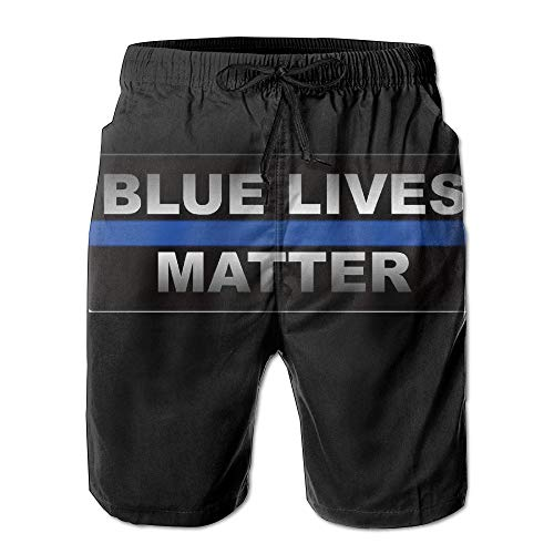 Life-cycle-handy (Nisdsh Men's Blue Lives Matter Quick Dry Summer Beach Surfing Board Shorts Swim Trunks Cargo Shorts Large)