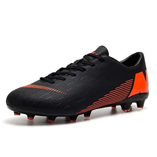 Kinder und Männer AG/TF Fußball Stiefel Teenager Fußball Leichtathletik Training Schuhe Fußballschuhe Damen/Mädchen (43 EU, Black-t) (Mädchen Stiefel Kinder)