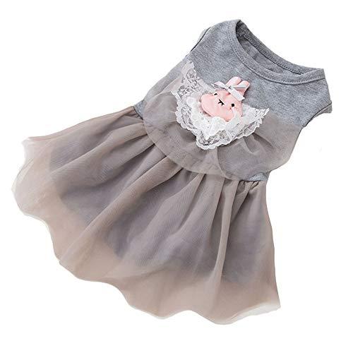Yiwuhu Bequem Haustier Hund Katze Sommer Kleidung Tutu Kleid Boutique Party Brautkleider für Welpen...