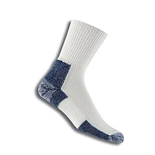 Thorlos Running Crew Socken Größe L weiß/marineblau (Crew-weiße 11 Socken)