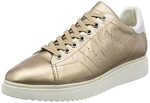 Geox D Thymar A, Sneakers Basses Femme, Or (Champagnecb500), 41 EU