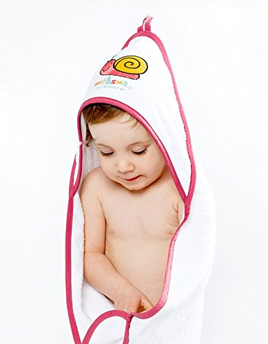 Nat&Sma Kuschel (Türkis): Das kuschelweiche farbenfrohe Kapuzenhandtuch sorgt in jedem Fall für gute Laune. Das Frottier-Material ist hautfreundlich saugfähig und weich.