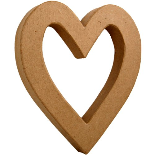Country Love Crafts 8.25- inch 3D Herz, Pappmaché