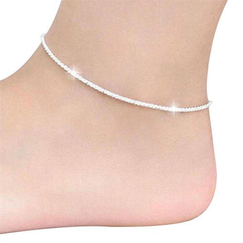 Fablcrew, cavigliera in argento alla moda da spiaggia, per feste di matrimonio, gioiello decorativo 10pcs