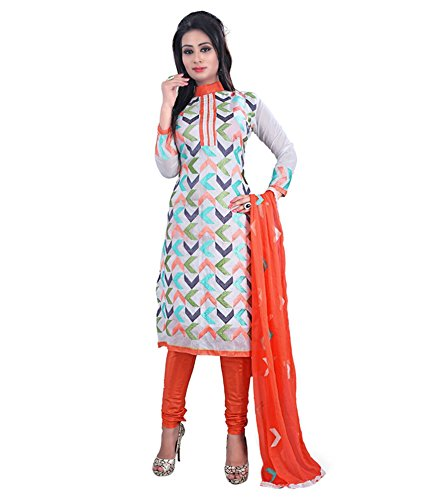 Ajay Sarees Women's Chanderi Unstitched Dress Material