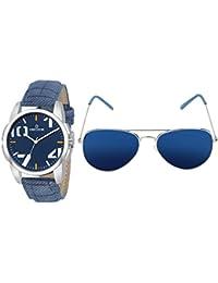 15c051ca4899 Decode Combo Of Analogue Blue Dial Watch   Aviator Men s Sunglasses-(WS  574Blue-