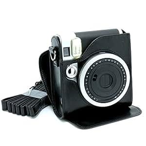 [Fujifilm Instax Housse Etui]-CAIUL Cuir En PU Synthétique Pour Appareils Photos De Fujifilm Instax Mini 90-Noir