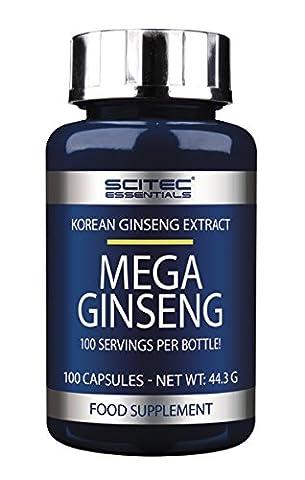 Scitec Ref.101117 Extrait de Ginseng Coréen Complément Alimentaire 100 Capsules