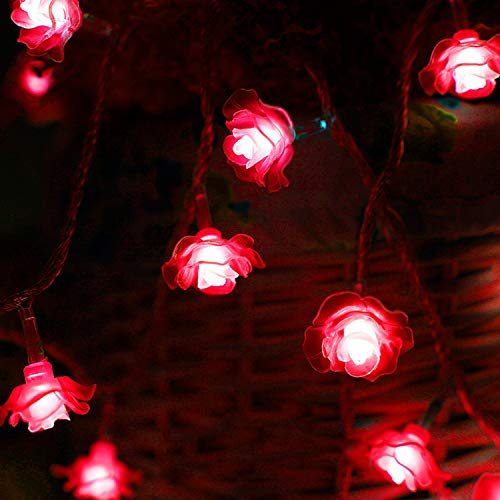 XCXDX Romantic Rose String Light 40 LED Lámpara De Hadas con Pilas para Boda, Proponer, San Valentín, Hogar