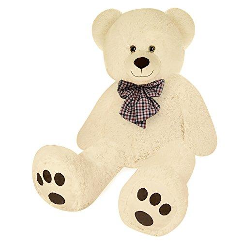 Deuba Orsacchiotto gigante XL 100 cm crema orso di peluche giocattoli bambini teddy bear
