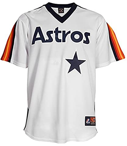 Luis Gonzalez Houston Astros Majestic MLB Cooperstown Replica Jersey Maillot