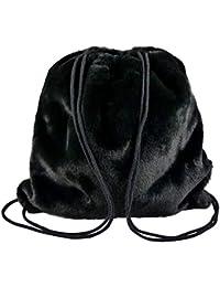 c41ee67f265a8e yourlifeyourstyle Damen Gym Bag Plüsch Fell Pelz Tragekordel Rucksack