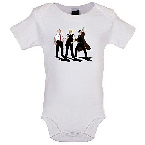 Dressdown Eiscreme Trilogie - Lustiger Baby-Body - Weiß - 12 bis 18 Monate - Hot Fuzz-t-shirt
