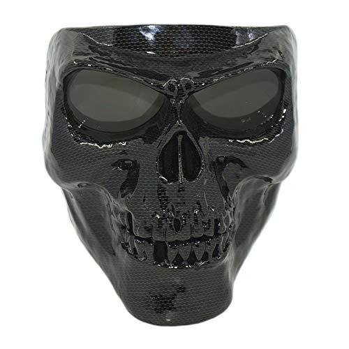Vhccirt - Máscara Protectora para Motocicleta, Gafas de esquí polarizadas, máscara de Halloween Cos lente gris de tono