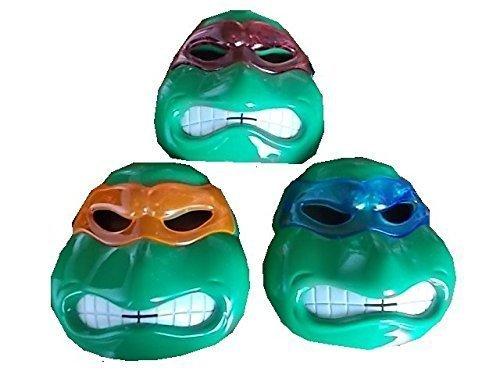 (Neue Turle Ninja-Team Masken (roter, oranger und blauer Schleier) mit LED Beleuchtung für Kinder)