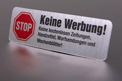 4 Keine Werbung Aufkleber in Edelstahl-Look - 2