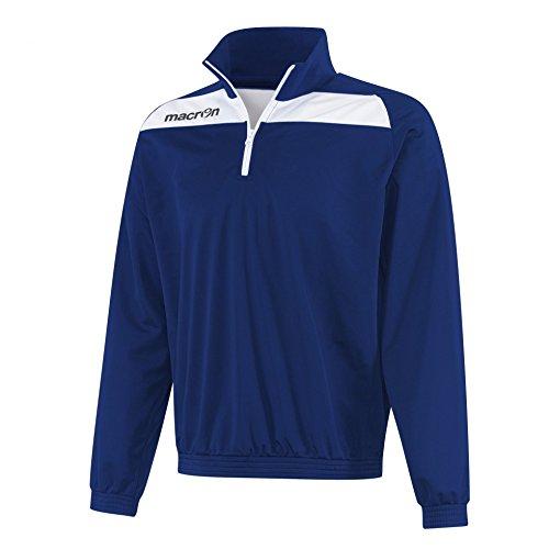 Felpa Tuta Sportiva Uomo Bicolore in Poliestere con 1/4 Zip a Contrasto Macron Nile Top, Colore: Navy/Bianco, Taglia: L