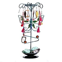 Jewelry Display Stand,Hanging Jewelry Organizer Display Holder with Ring Tray to Organize Necklaces Bracelets Earrings Rings and Watches Butterfly Animal Fashion Display Storage