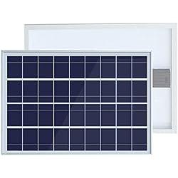 ECOWORTHY - Módulo de panel solar policristalino de 25 W, 25 W, 12 V, carga de batería para caravana