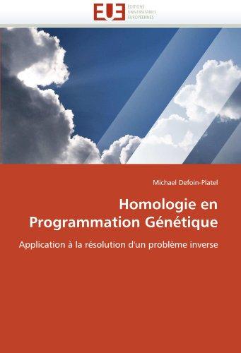 Homologie en programmation génétique par Michael Defoin-Platel