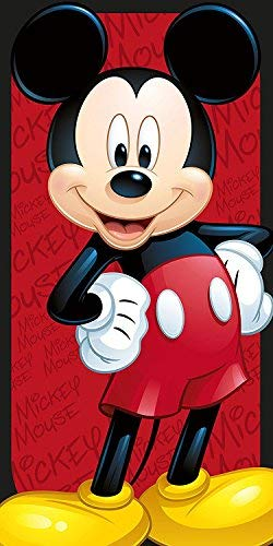 Disney Mickey Mouse WD19461M Toalla Playa, 100% Poliéster, Multicolor, 70 x 140...
