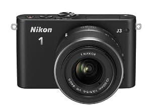 Nikon 1 J3 Systemkamera (14 Megapixel, 7,5 cm (3 Zoll) LCD-Display, Full HD) Kit inkl. 1 Nikkor 10-30 mm VR-Objektiv schwarz