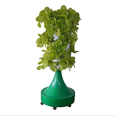 Pots de fleurs en pot automatiques Colonnes Terrasse Légumes à graines Équipement de culture sans solitaire Planteur hydroponique Puissance 4.5W Taille 54 * 54 * 50cm