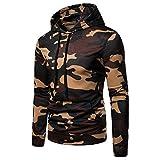 MRULIC Männer Kapuzenpullover Sweatshirt Herbst Casual Camouflage Langarm Pullover Hoodie Mantel Top RH-065(Türkis,EU-44/CN-M)